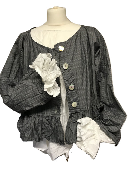 Southern Gothic Lace Governess Shirt RitaNoTiara steampunk Victorian