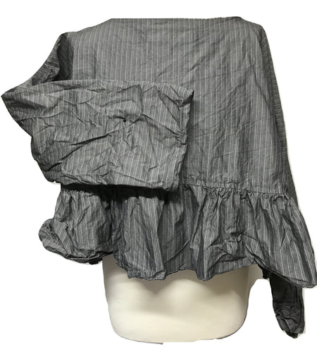 Ready to Ship Romy Frill Black Top One Size