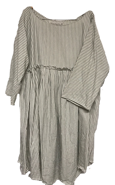 Stripe Prairie Dress RitaNoTiara Southern Gothic Couture Boho chic