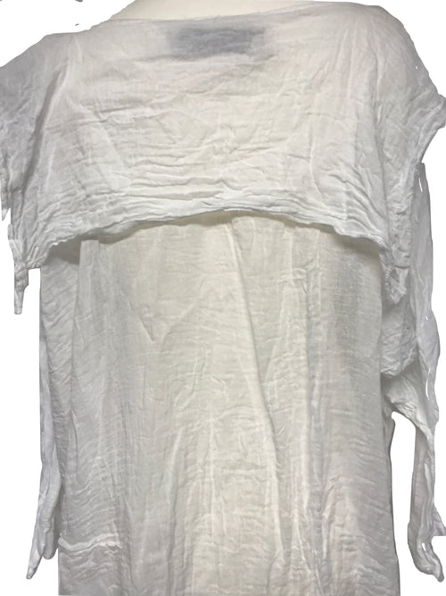 Cotton Gauze  Sailor Top RitaNoTiara Southern Gothic Couture boho chic