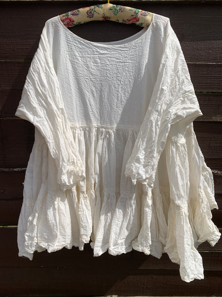 Ready to Ship One Size Ivory Romy Prairie Top