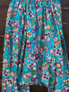 Ready to Ship Day of the Dead Turquoise Harem Pants