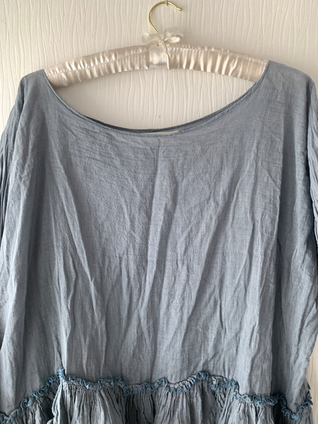 Ready to Ship Free Size Teal Boxy Top