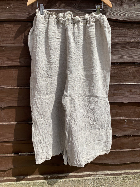 Ready to ship Homespun Linen Fisherman Pants