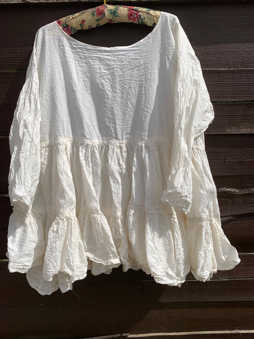 Ready to Ship Free Size Ivory Romy Prairie Top