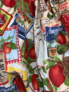 Ready to Ship Americana Apples Linen Harem Pants