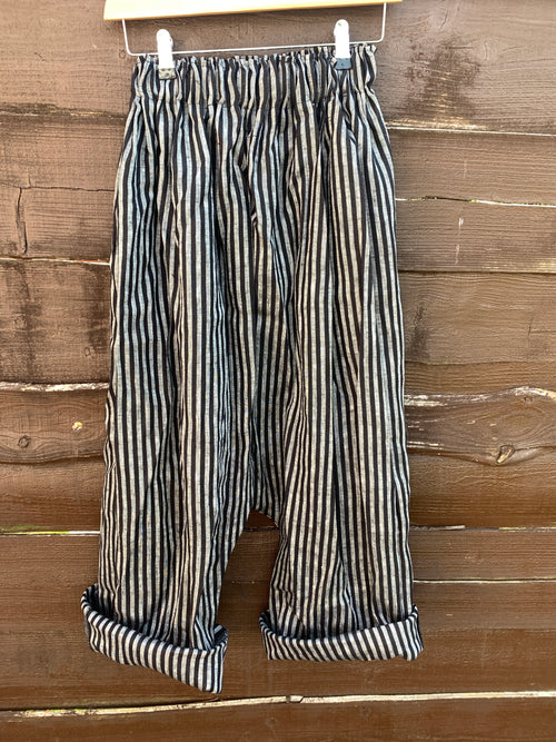 Ready to Ship Striped Linen Garcon Pants Unisex