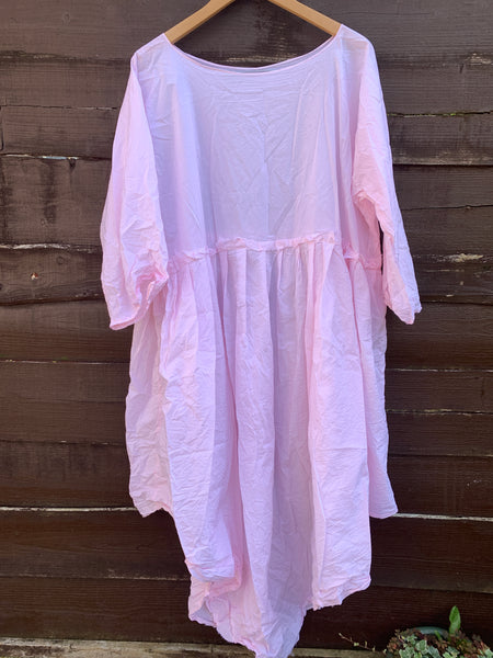 Ready to Ship May Peony Pink Voile Dress One Size