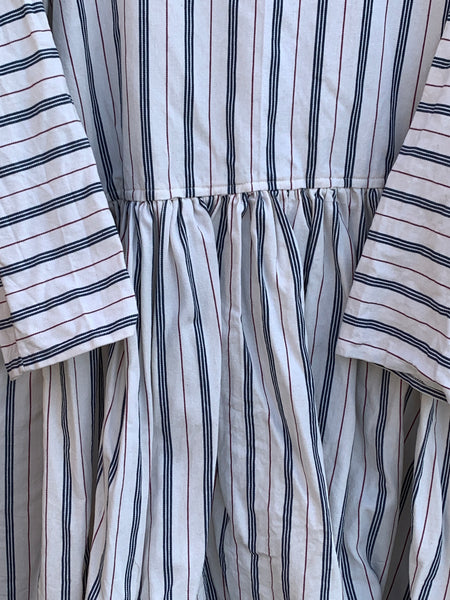 Ready to Ship May Ticking Stripe Georgia Cotton Dress One Size