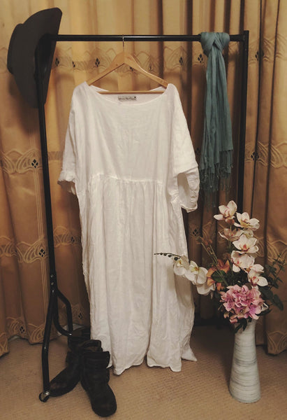 Louise Linen Prairie Dress