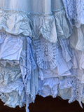 Ready to Ship Pale Blue Etta Vintage Lace Skirt One Size
