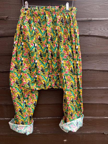 Ready to Ship Toucan Harem Pants
