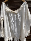 Ready to Ship Free Size Ivory Voile Byron Top