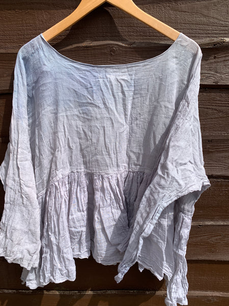Ready to Ship One Size Gauze Cotton Ombre Top