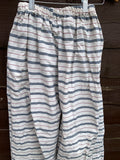 Ready to ship Ticking Stripe Big Pocket Pants Free Size