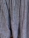 Ready to Ship Men's Linen Grey Stripe Drop Crotch Pants
