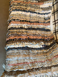 Frilled Rug Throw Upcycled Frills