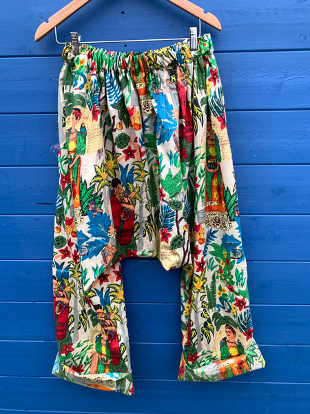 Ready to Ship Frida Kahlo Latte Harem Pants