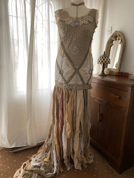 Ready to Ship Taupe Wedding Dress Free Size