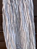 Ready to Ship Grey Stripe Linen Garcon Pants Unisex