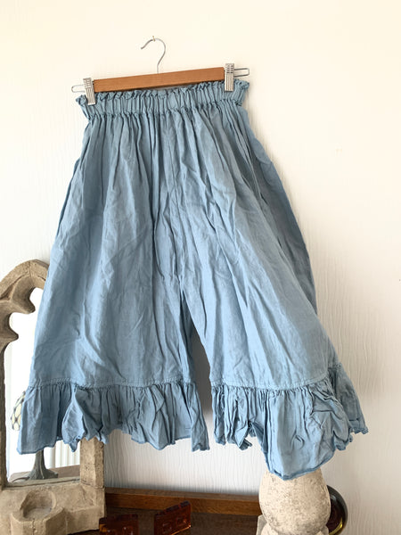 Ready to Ship Teal Linen Bermuda Shorts One Size