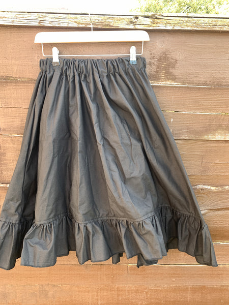 Ready to Ship Black Cotton A Line Skirt Free Size