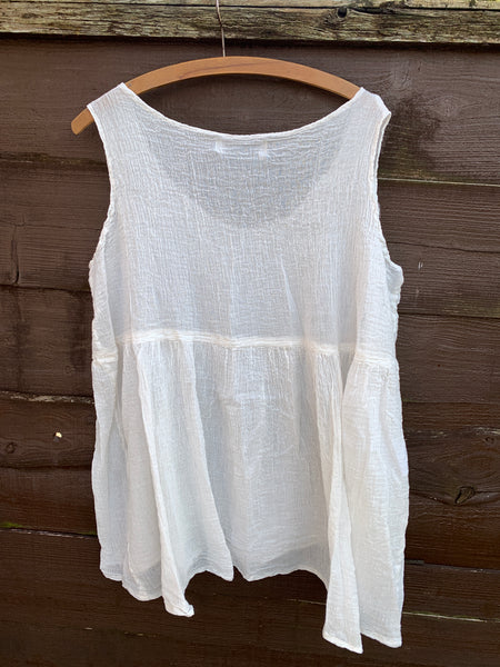 Ready to Ship One Size Ivory Penny Tank Top