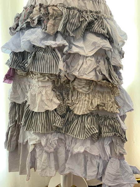 Ready to Ship Lilac Ruffle Skirt Free Size