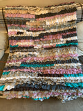 Ready to Ship Upcycled Frill Rug Throw