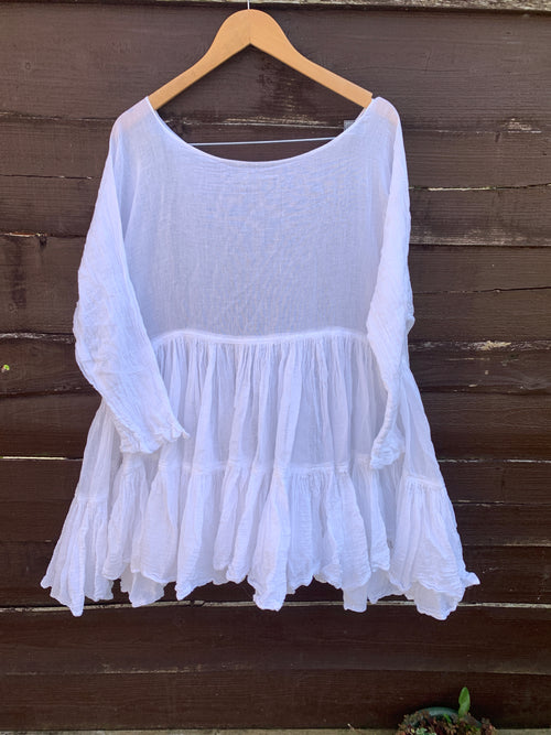 Ready to Ship Free Size White Romy Top