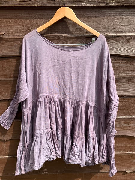 Ready to Ship One Size Grey Romy Prairie Top ( seconds)