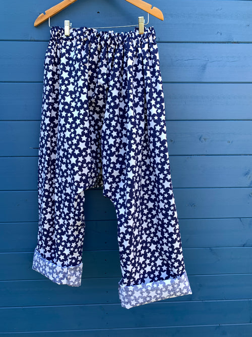 Ready to Ship Poplin Star Harem Pants