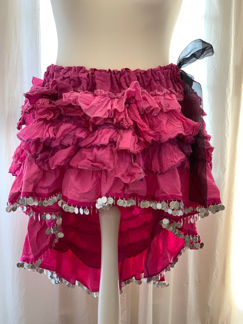 Ready to Ship Magenta Festival Skirt Free Size