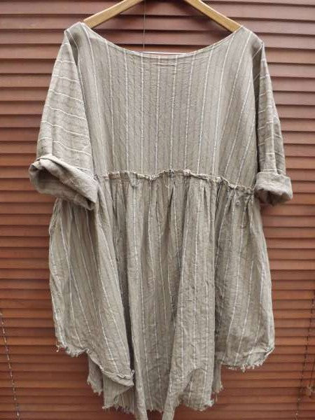 Saffy European Linen Prairie Dress