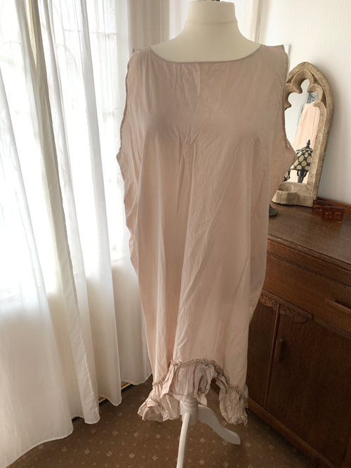 Ready to Ship Cream Asymmetric Dress Free Size ( Seconds)