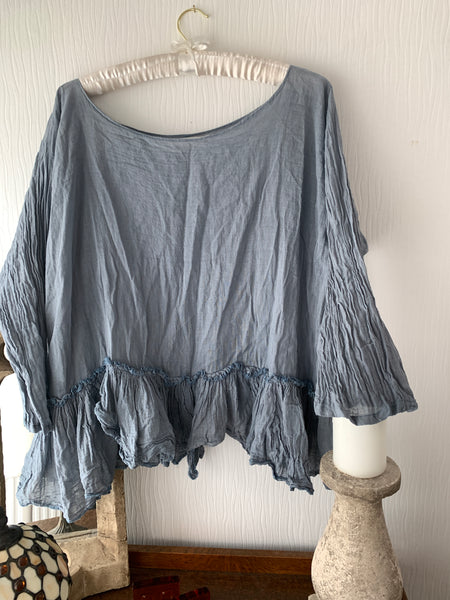 Cotton Ruffle Shirt