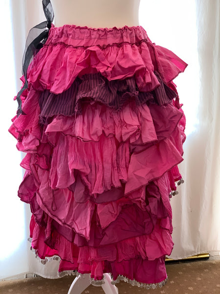 Ready to Ship Magenta High Low Skirt Free Size