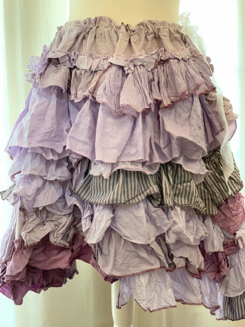 Ready to Ship Lavender Ruffle Skirt Free Size