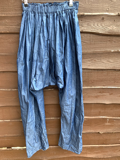 Ready to Ship Denim Garcon Drop Crotch Pants