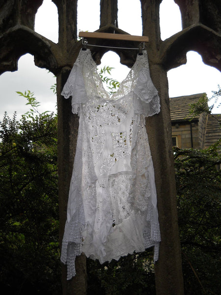 Baboushka Linen and Lace Dress