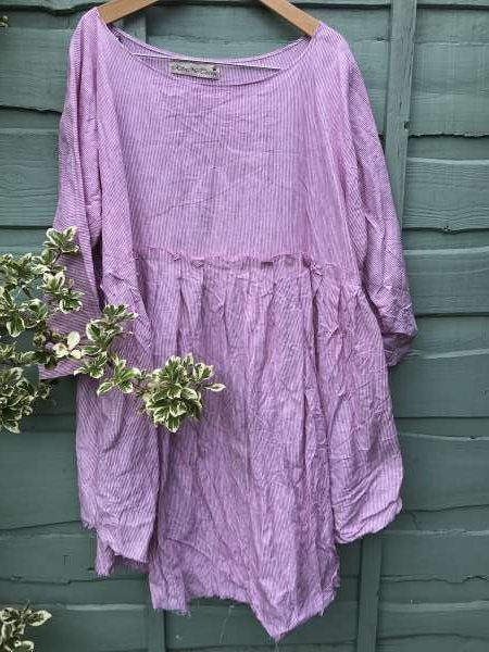 May Railroad Linen Dress
