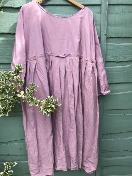 May Long Linen Dress Clover