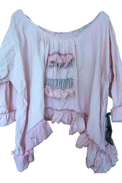 Artist Patched Shirt RitaNoTiara Southern Gothic Couture Prairie Boho