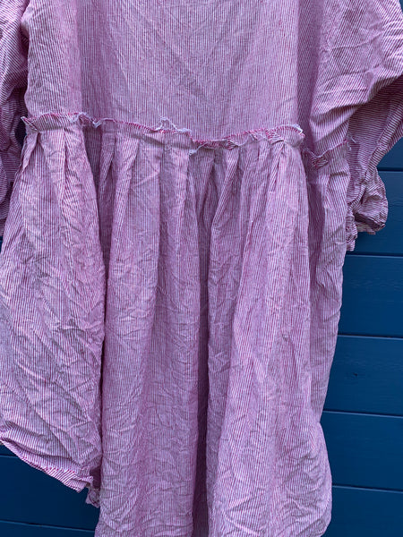 Ready to Ship May Railroad Linen Dress One Size