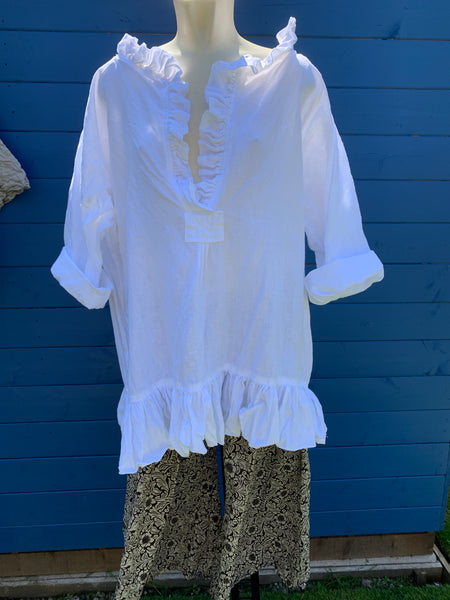 Ready to Ship White Cherub Dress Free Size