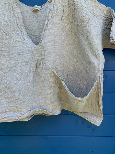 Ready to Ship Homespun Linen Oversized Top One Size