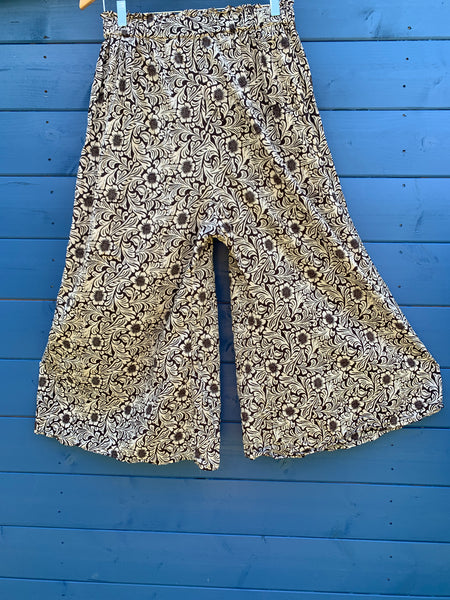 Ready to Ship Hand Block Printed Pants One Size