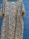 Ready to Ship Hand Block Printed Cotton Top / Dress  One Size