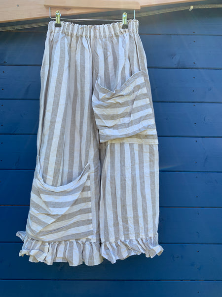 Ready to Ship Linen Stripe Bloomers ONE SIZE