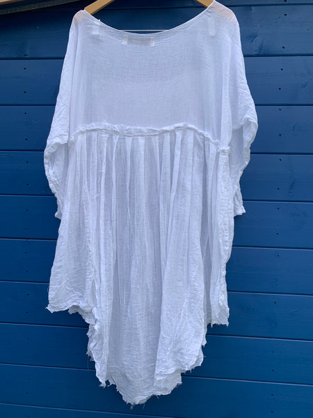 Ready to Ship May Lace White Cotton Dress One Size